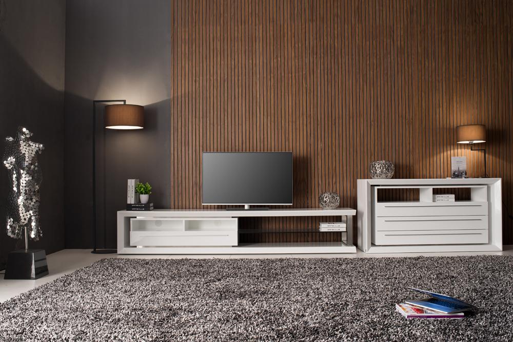 Timber Tv Unit or Gloss White TvUnit
