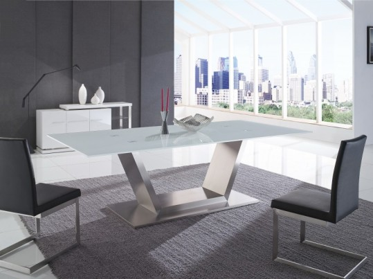 Euro Glass Rectangle Dining Table | Venus | Gainsville